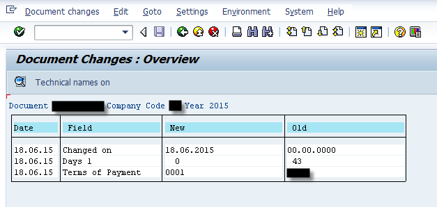 Sap Change Document for Custom Table All changes