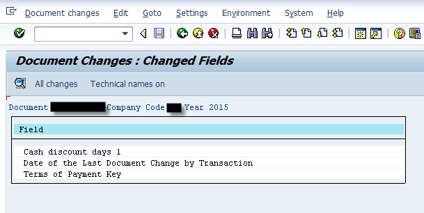 Sap Change Document for Custom Table