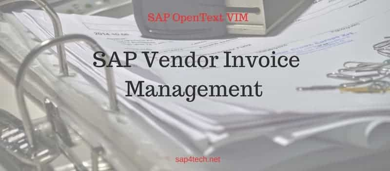 SAP Vendor Invoice Management