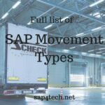 Full list of SAP Movement Types