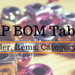 SAP BOM Tables