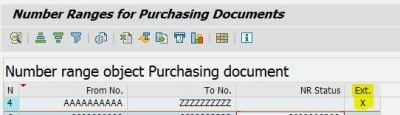 Number Range for Purchasing Document - SAP Explicit PO Number