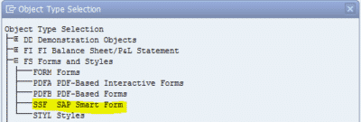 FS Forms and Styles SSF SAP Smart Form