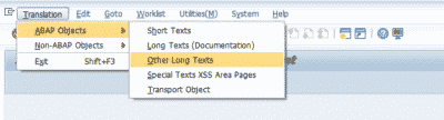 SAP Smartforms Translate tcode