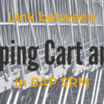Link Between Shopping Cart and PO in SAP SRM.