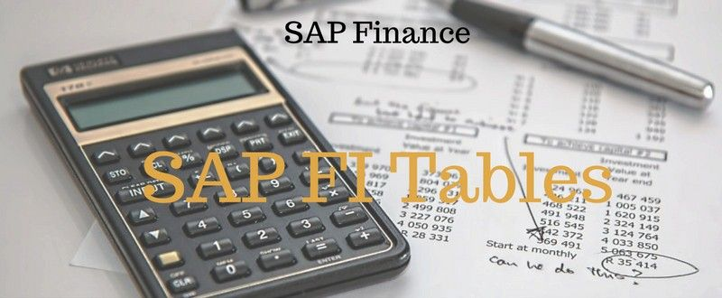 List Of Important SAP FI Tables (SAP Finance Tables) - SAP4TECH