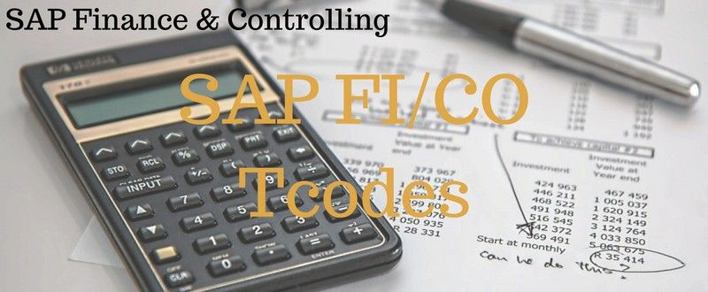 SAP FI Tcodes & SAP CO Transaction Codes (Finance And Controlling)