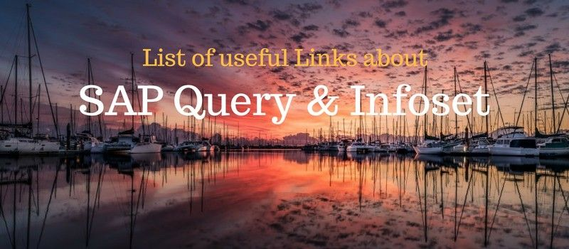 SAP Query, SAP Infoset, SQ01, SQ02