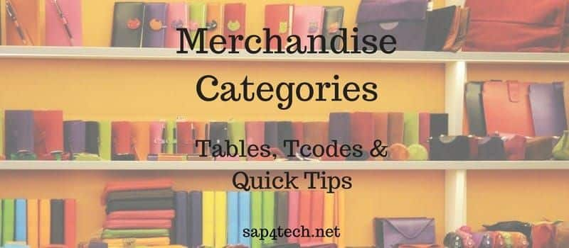 SAP Merchandise Categories
