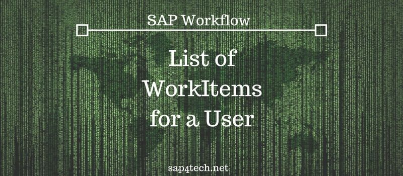 List of WorkItems for a User
