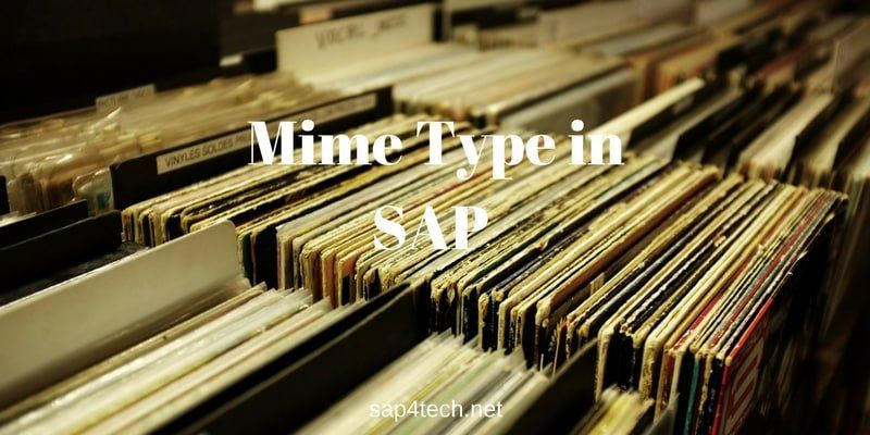 Mime Type in SAP